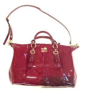 AUTHENTIC COACH Burgundy Patent Leather Bag